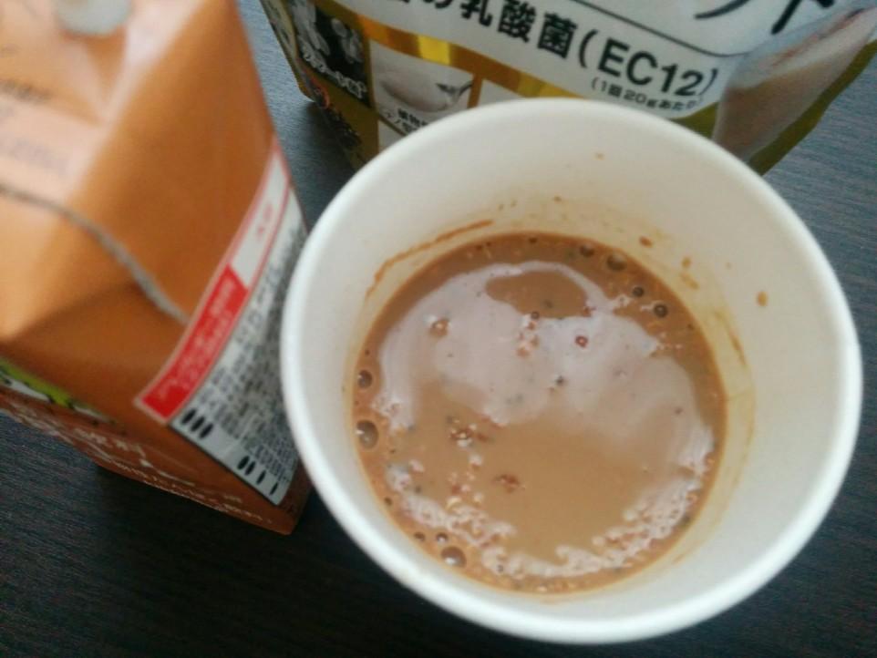 飲むスマート菌をコーヒーに混ぜた後の写真